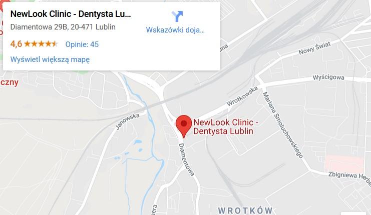 Mapa dojazdu do Tymodental Lublin